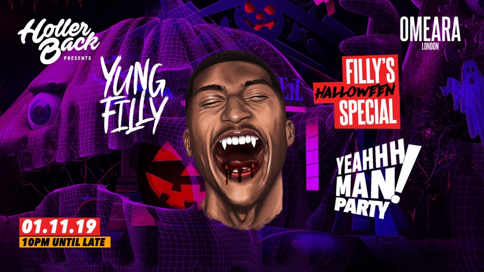 Holler Back x Yung Filly Halloween Party 👻