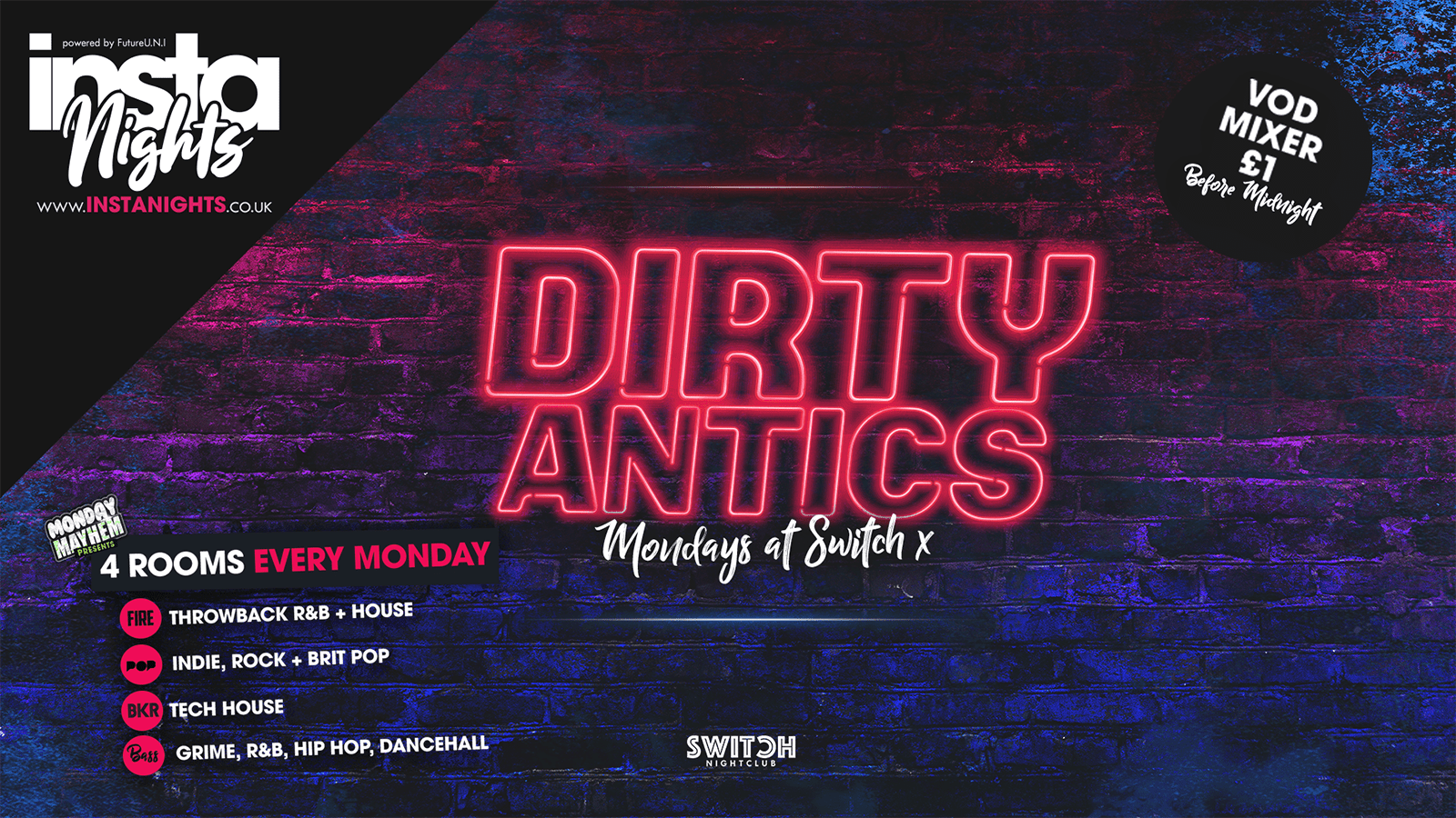 Dirty Antics – 23rd Sep