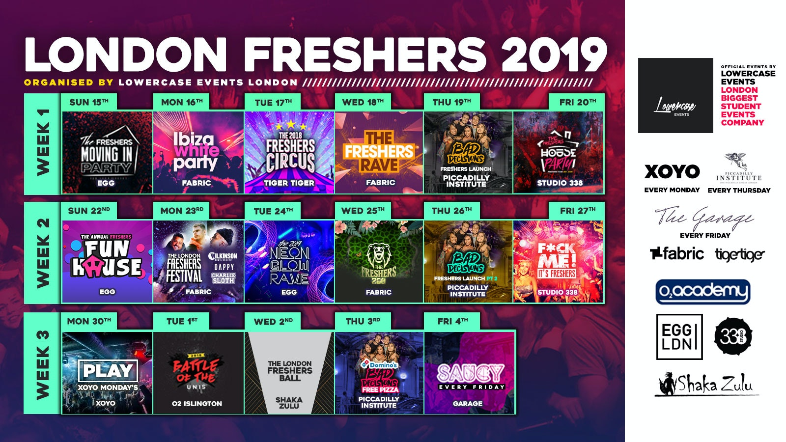 THE 2019 OFFICIAL LONDON FRESHERS GUIDE ✅
