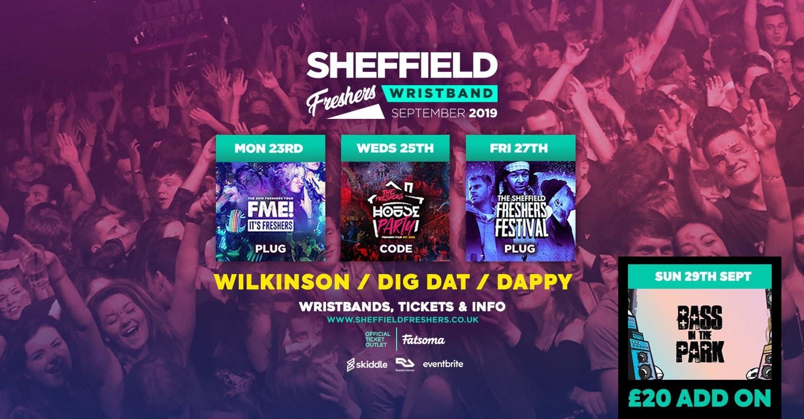 Sheffield Freshers Wristband 2019 ///