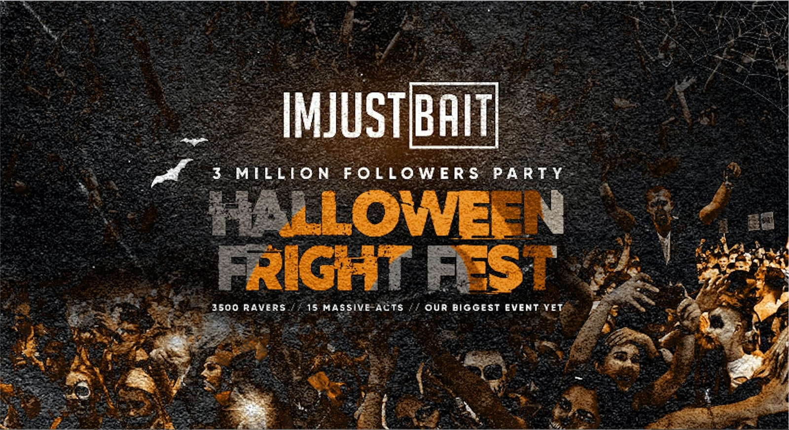 IMJUSTBAIT 3 Million Followers Party! The Halloween Fright Fest!