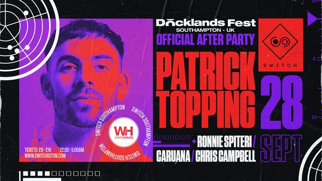 Warehouse Presents: Patrick Topping 3 Hour Set