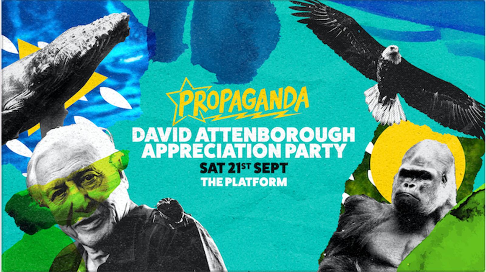 Propaganda Northampton – David Attenborough Appreciation Party!