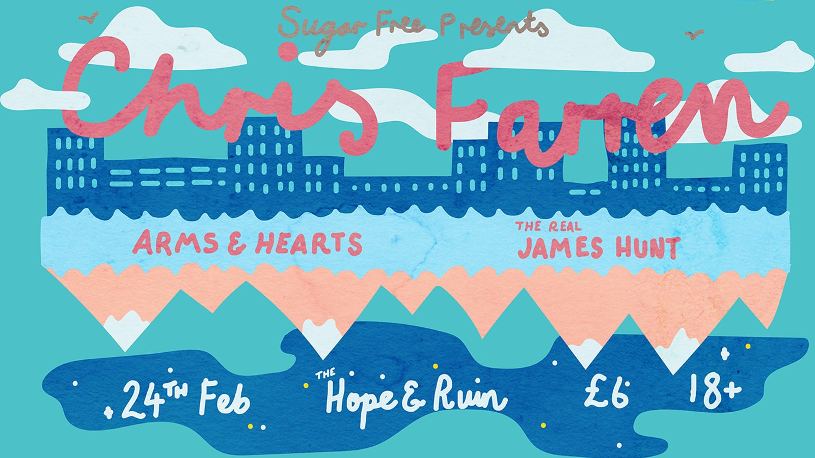 Chris Farren + Arms & Hearts + The Real James Hunt