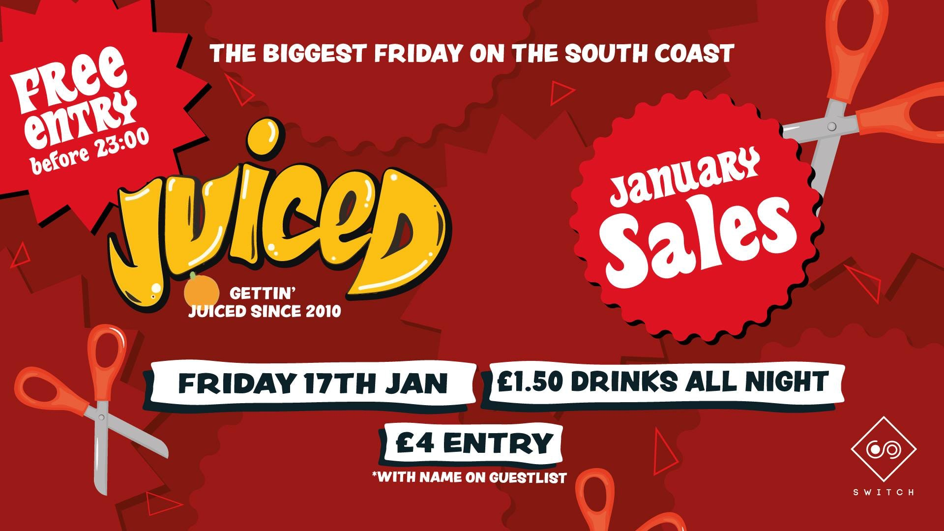Juiced: January Sales – £1.50 Drinks