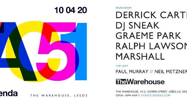 Soak presents fac51 The Hacienda w/ Derrick Carter & dj sneak at The Warehouse Leeds