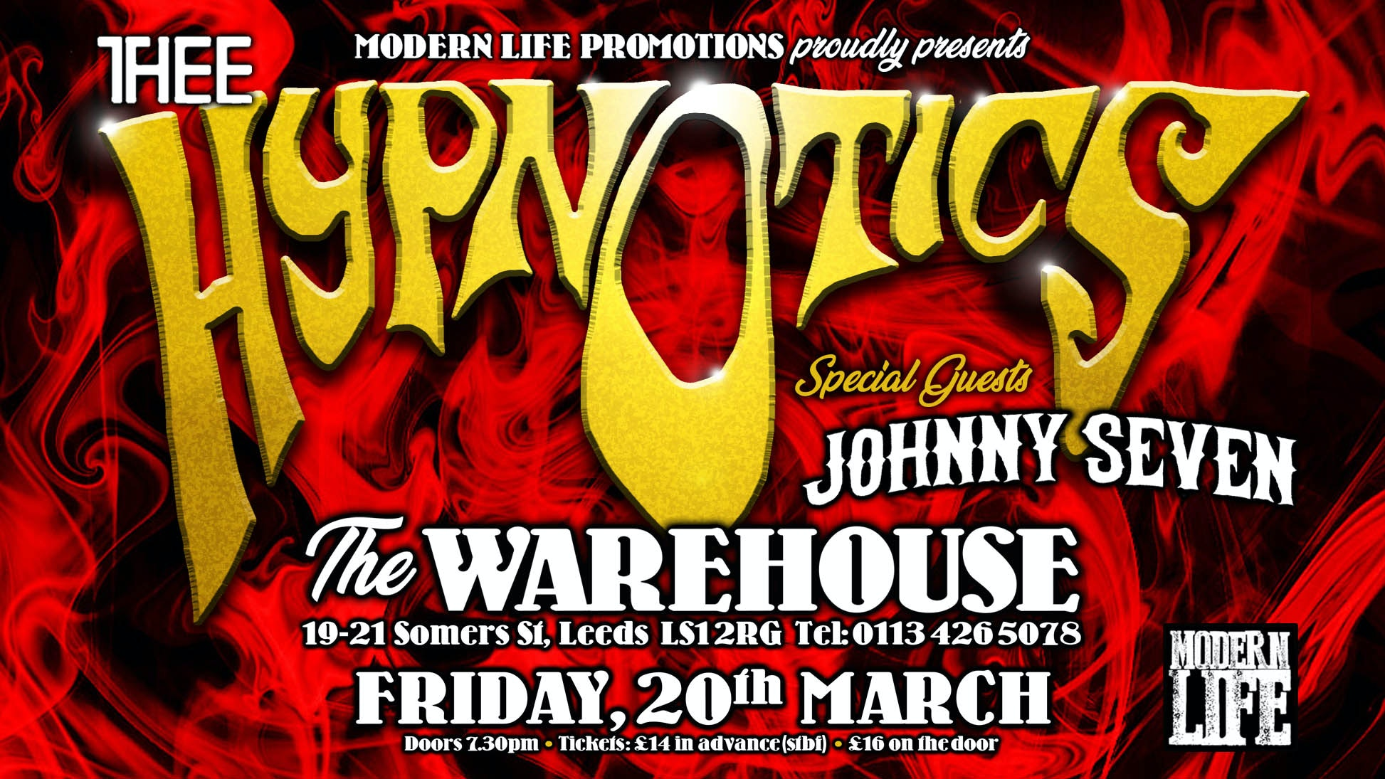 Thee Hypnotics + Johnny Seven – Live