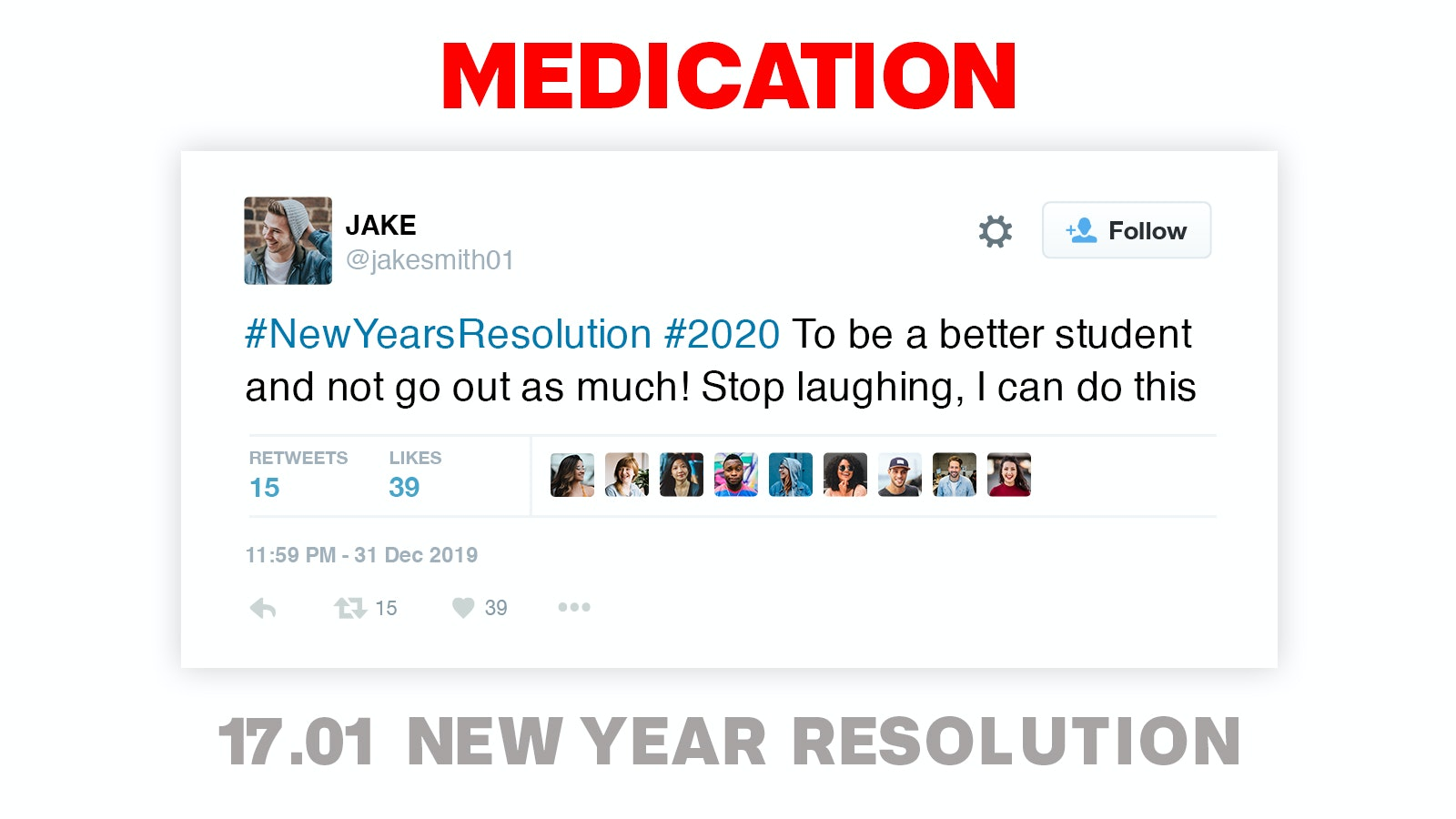 MEDICATION – NEW YEAR RESOLUTIONS