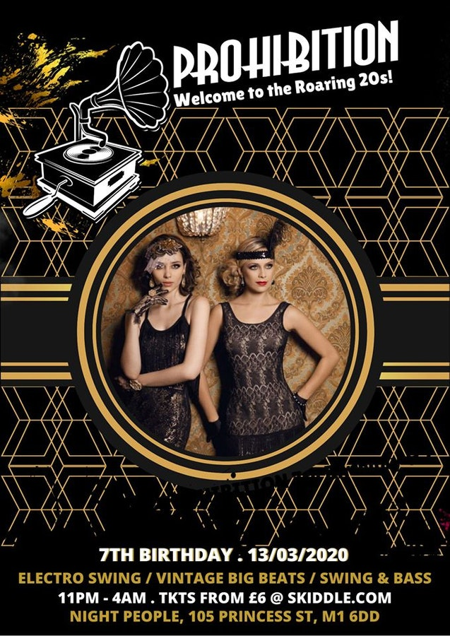 Prohibition 7th Birthday – Welcome to the Roaring 20s!