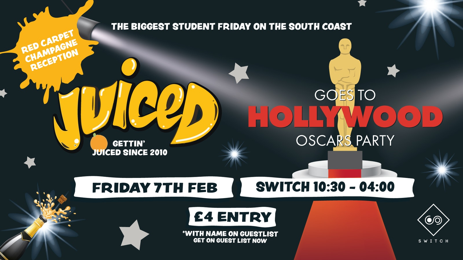 Juiced goes to Hollywood – VIP Ticket £6