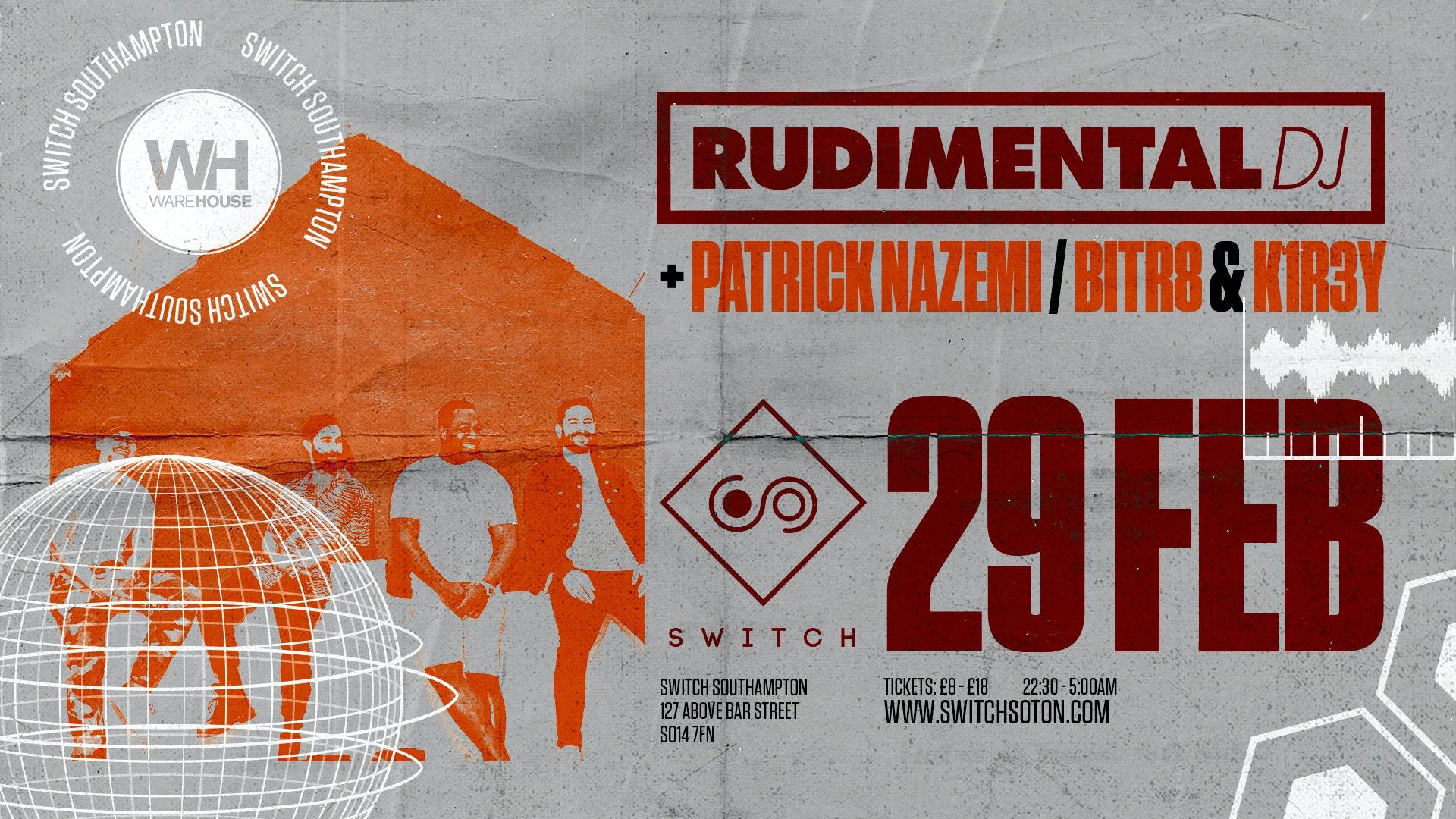 Warehouse Presents: Rudimental DJ