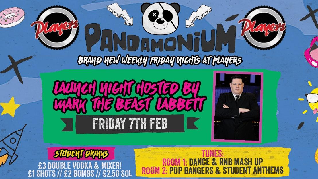 Pandamonium Fridays – Launch with Mark 'The Beast' Labbett