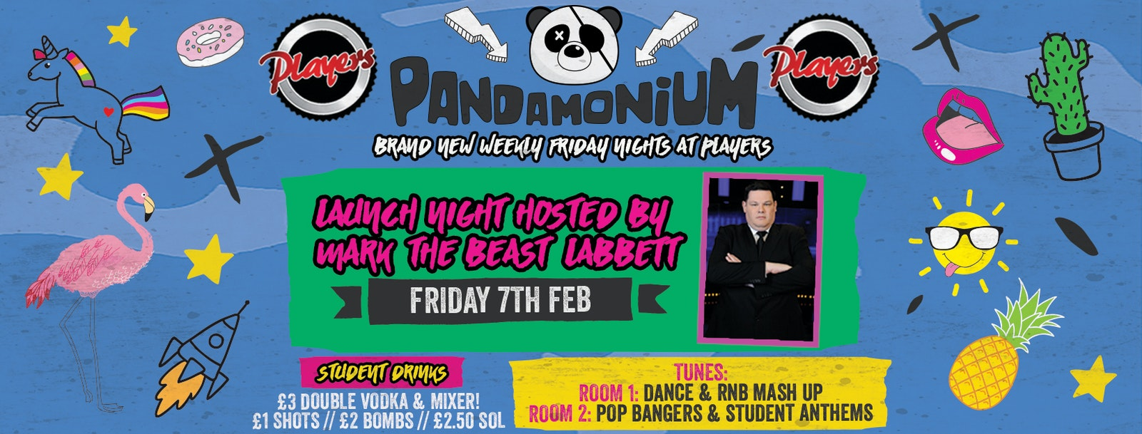 Pandamonium Fridays – Launch with Mark 'The Beast' Labbett