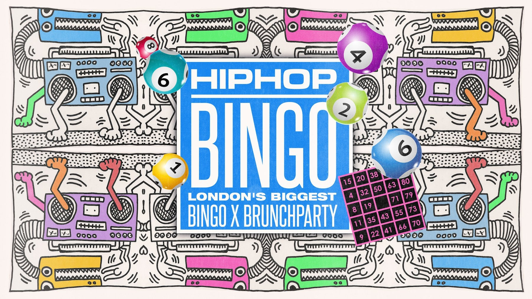 The London HipHop Bingo Brunch 🎱 March 29th | Live at Dabbers 🎉