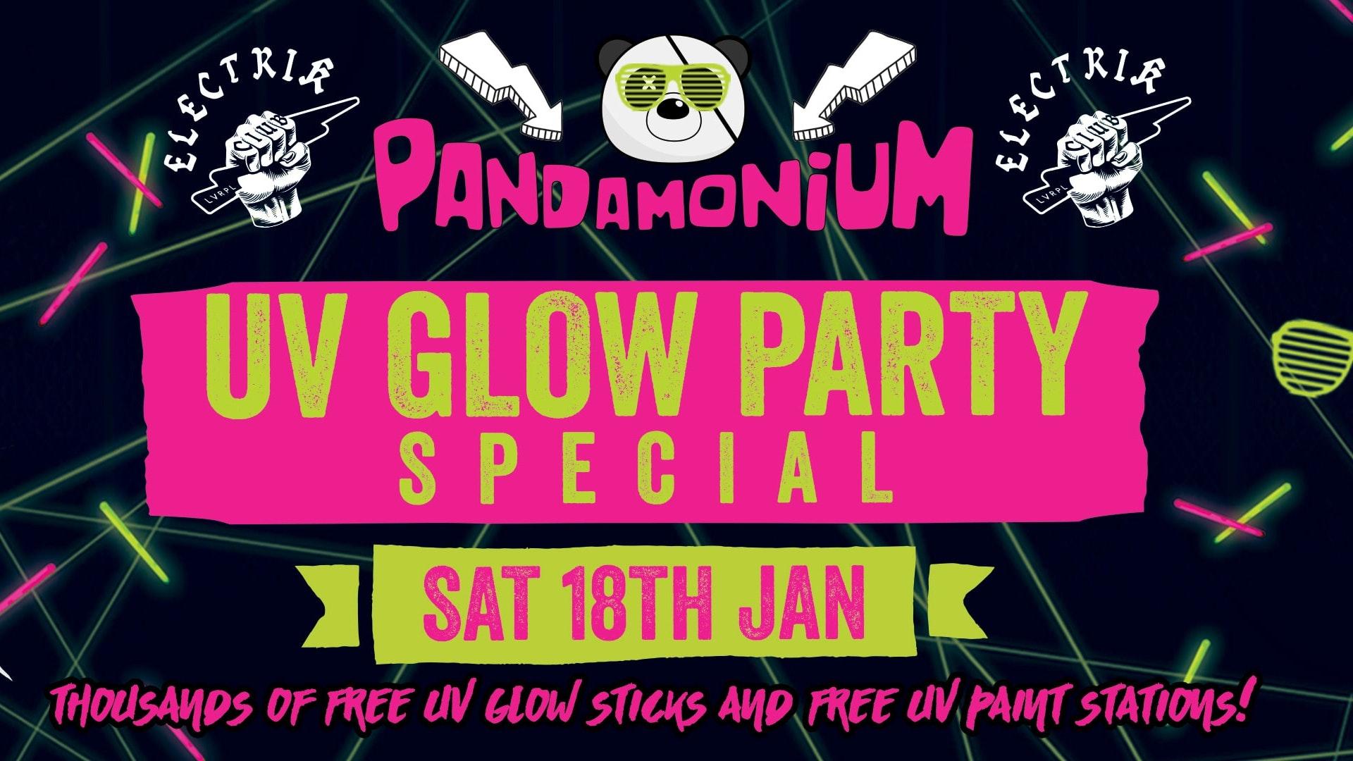 Pandamonium Saturdays – UV Glow Party