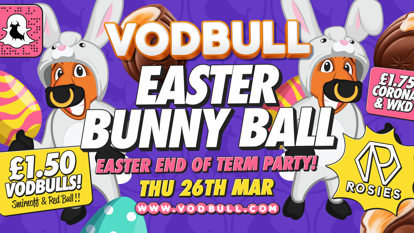 Vodbull 🐰 Easter Bunny Ball 🐰- EVENT CANCELLED