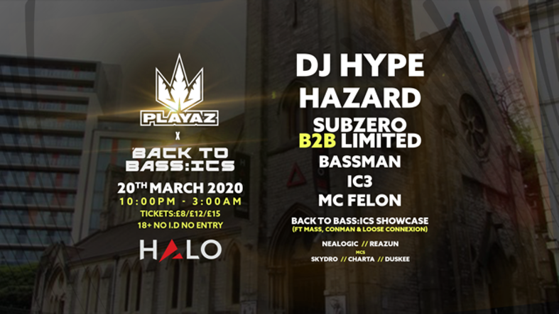 PLAYAZ x BACK TO BASS:ICS