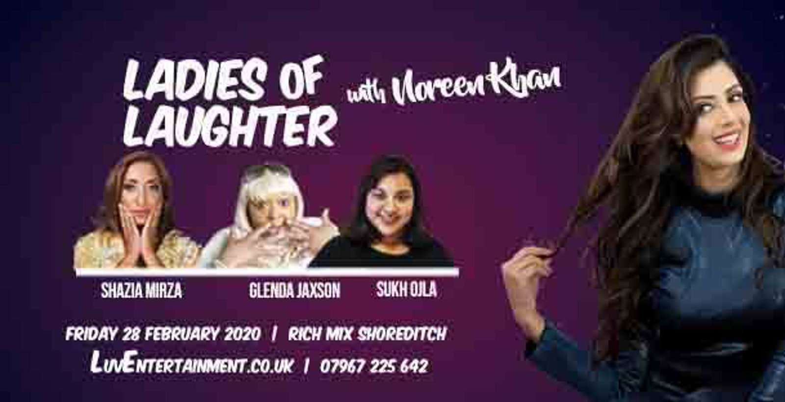 Ladies Of Laughter With Noreen Khan – Shoreditch