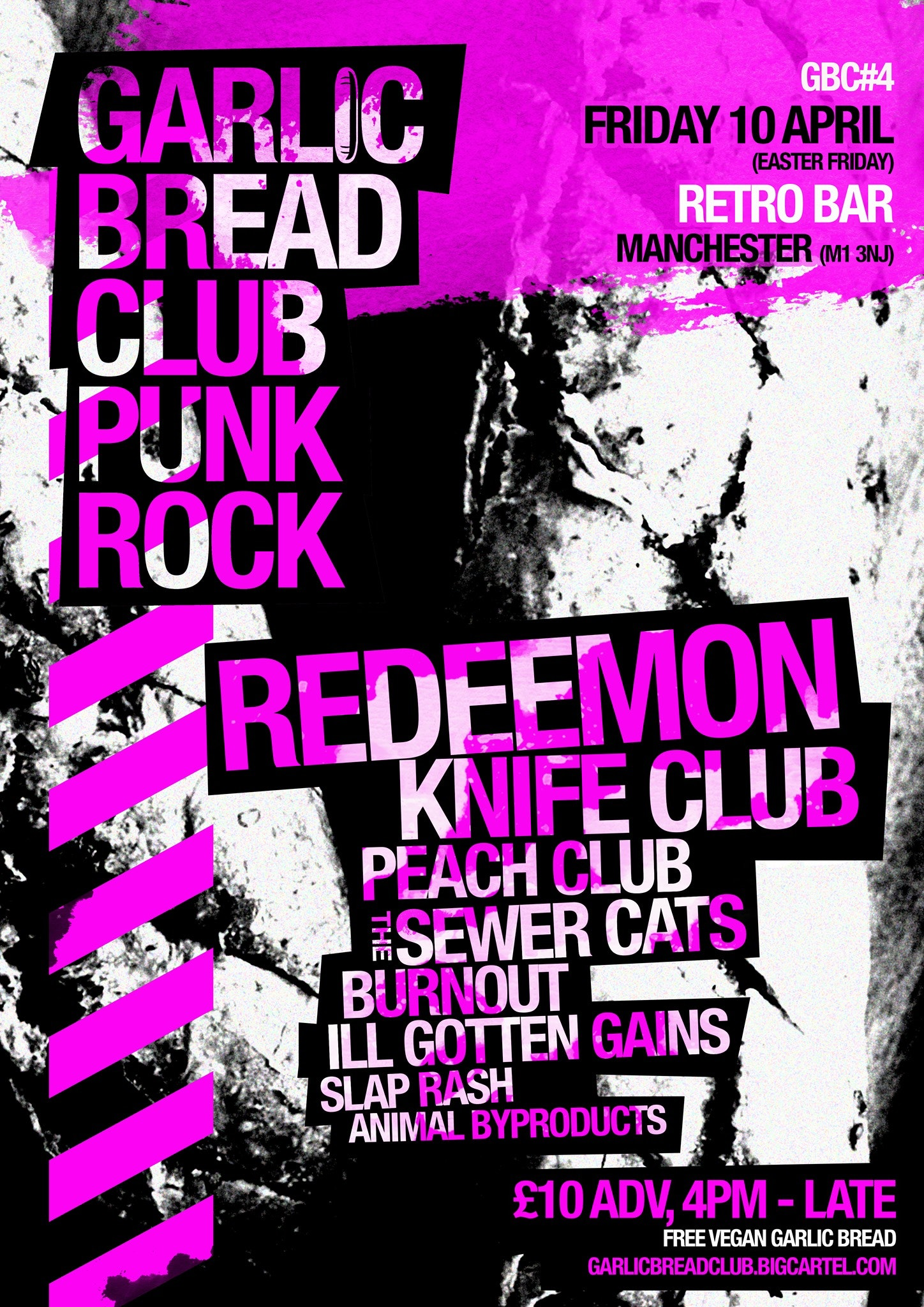 GBC #4: Friday 10 April: Redeemon, Knife Club + more