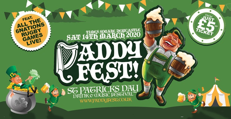 "PADDY FEST 2020 ""St Patricks Day Festival"" / TIMES SQUARE NEWCASTLE"
