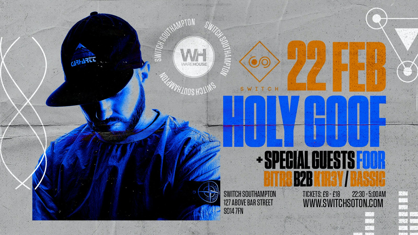 Warehouse Presents: Holy Goof