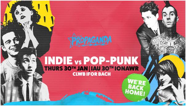 Propaganda Cardiff – Indie Vs Pop Punk at Clwb Ifor Bach!