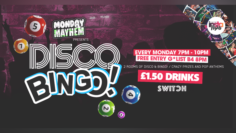 Monday Mayhem presents Disco Bingo