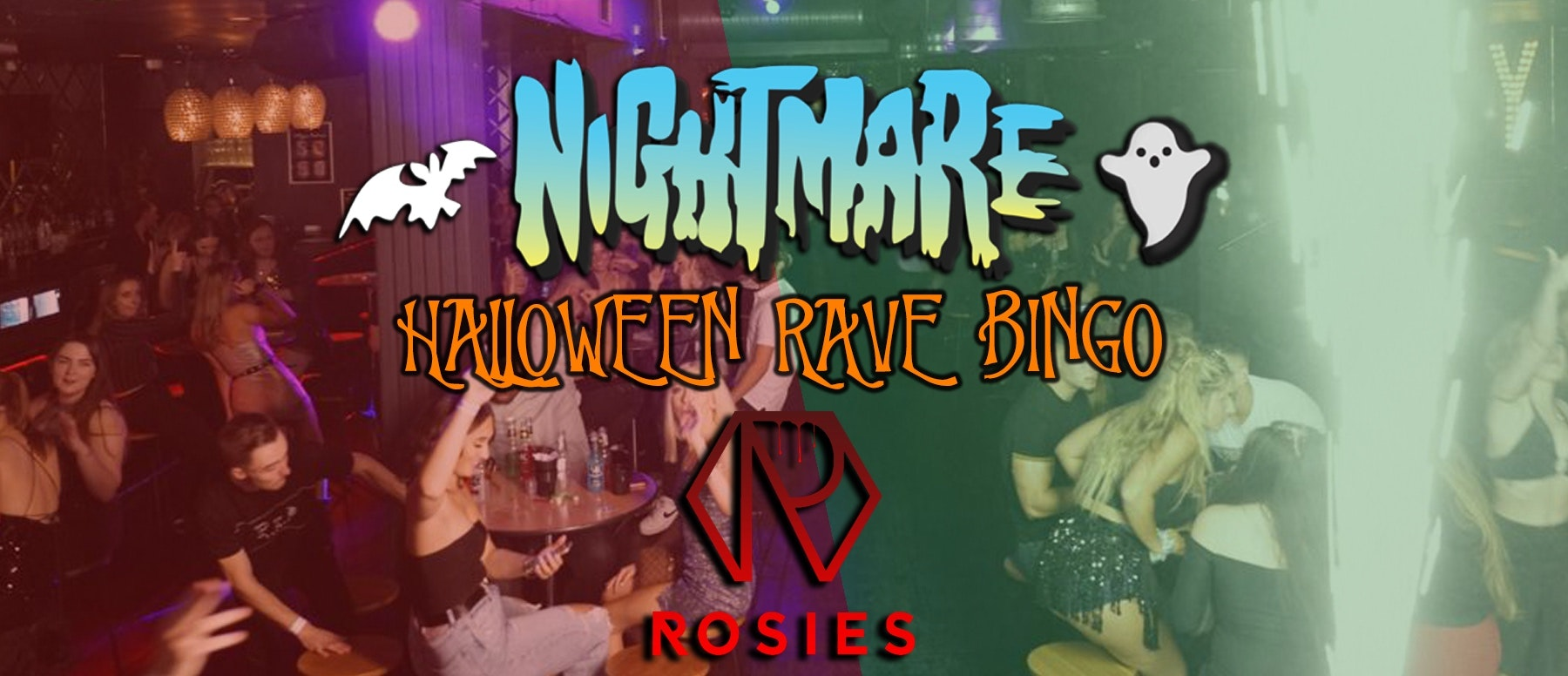 Nightmare Halloween Rave Bingo! Halloween Day Session – Rosies!