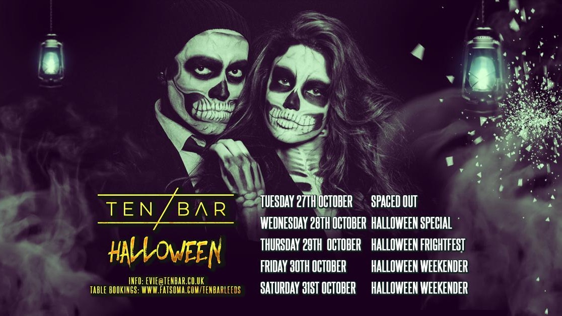 Halloween Ten Bar Saturday 31st October table bookings