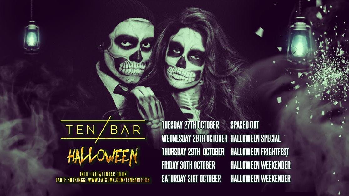 Halloween Ten Bar Saturday 31st October table bookings