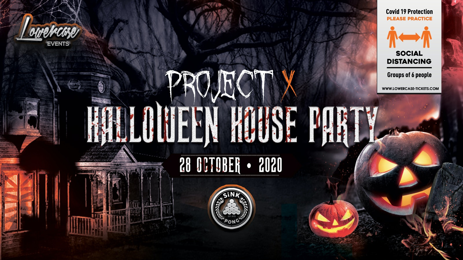 The Project X Hip Hop Halloween Party @ SiNK PONG! This event will sell out