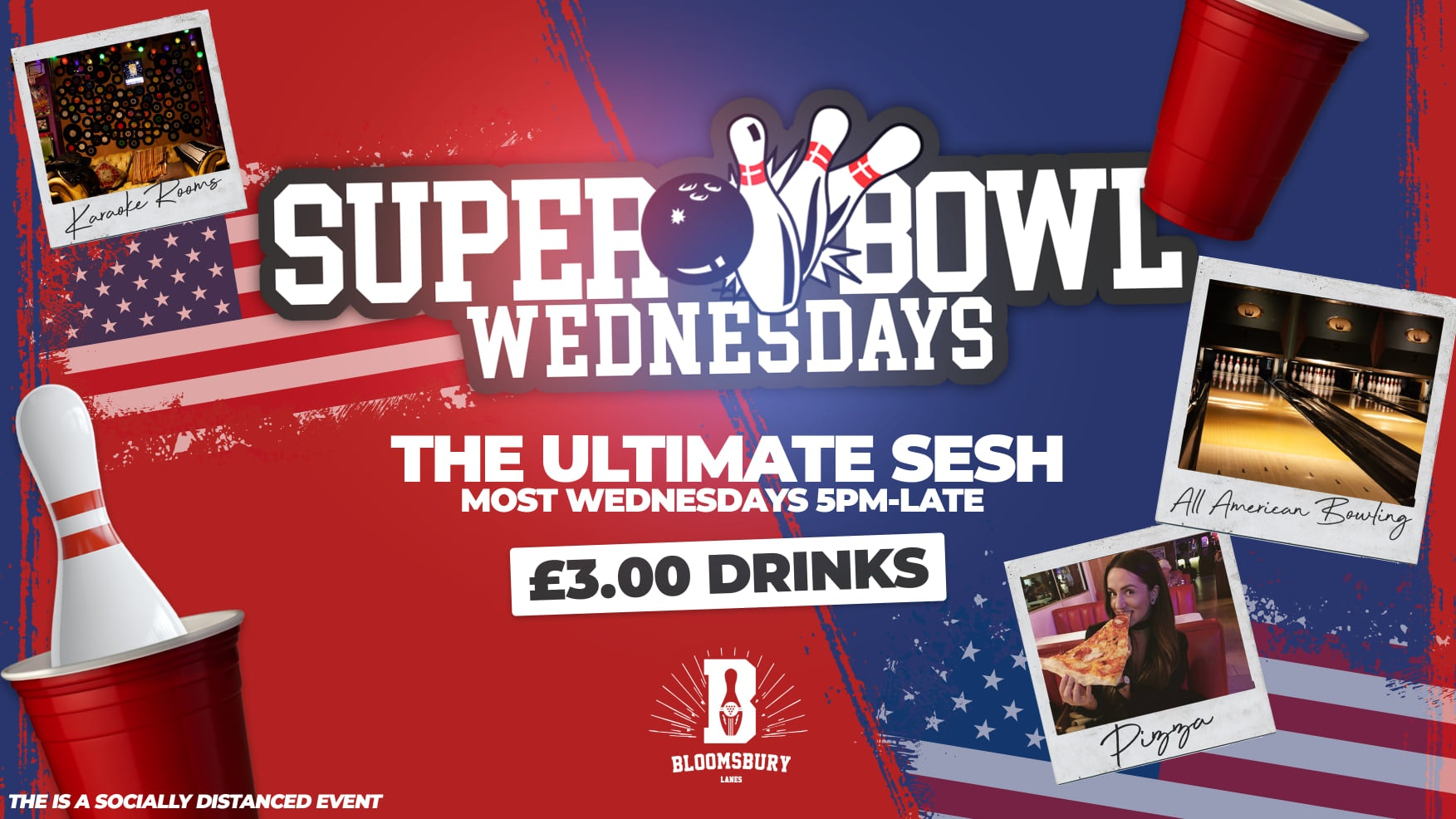 SUPER BOWLING 🎳🍹London's Freshest Student Session | £3 Drinks!