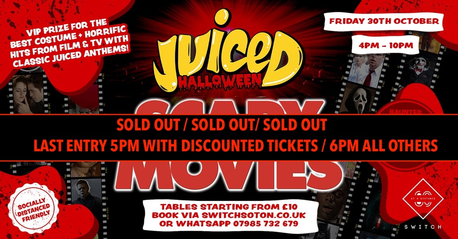 Juiced: Halloween – Scary Movies 75% Sold Out