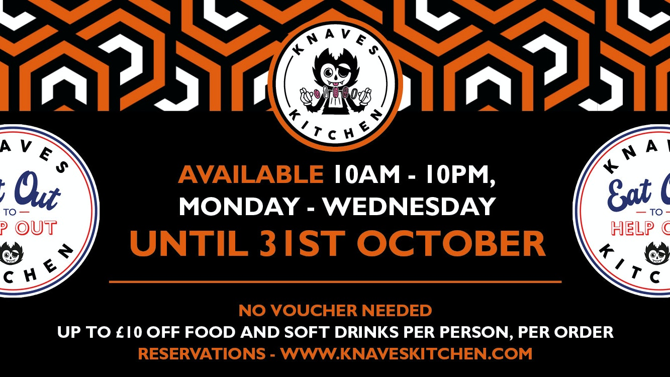 Eat Out to Help Out – 50% off continues for October