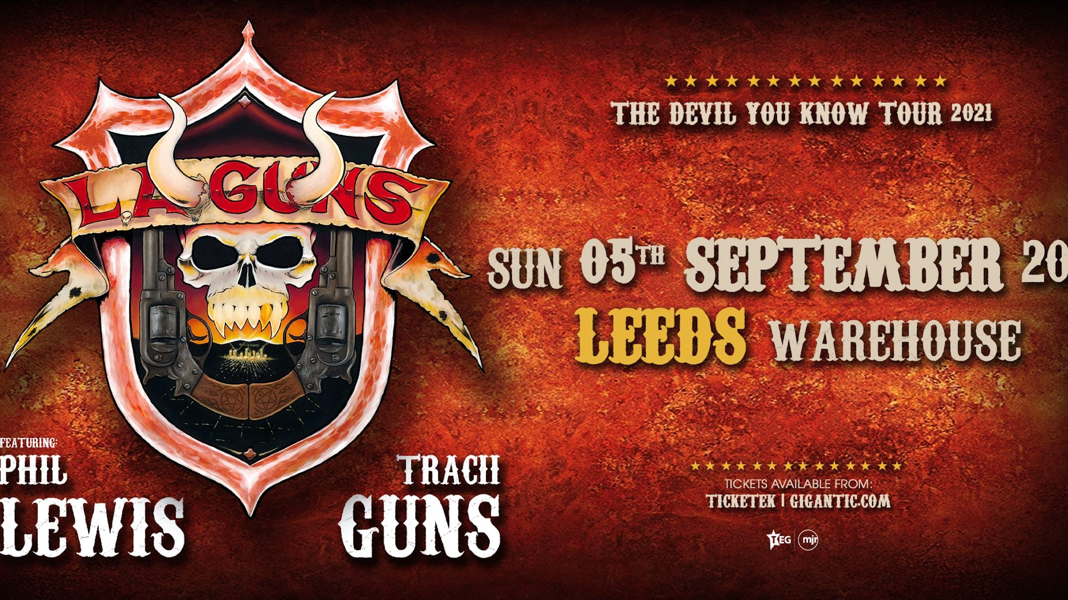 L.A GUNS – featuring Phil Lewis & Tracii Guns – LIVE
