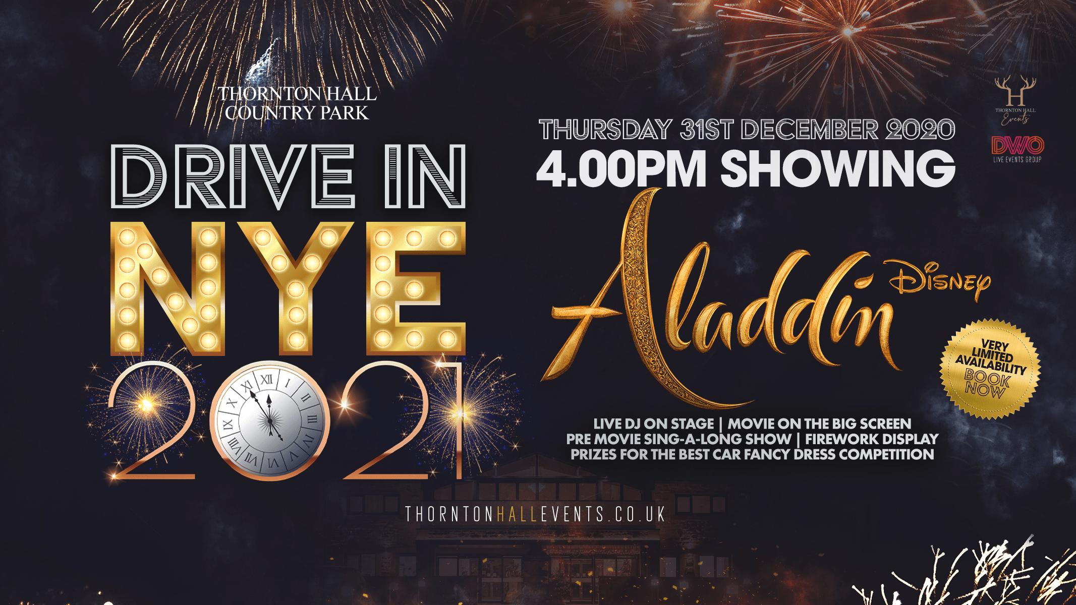 Drive In NYE 2020 – Aladdin + Fireworks