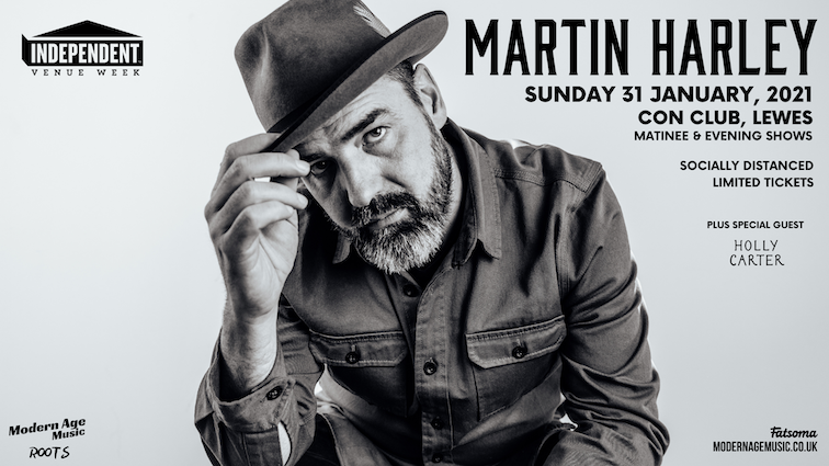 Cancelled – Martin Harley live at Lewes Con Club – EVENING