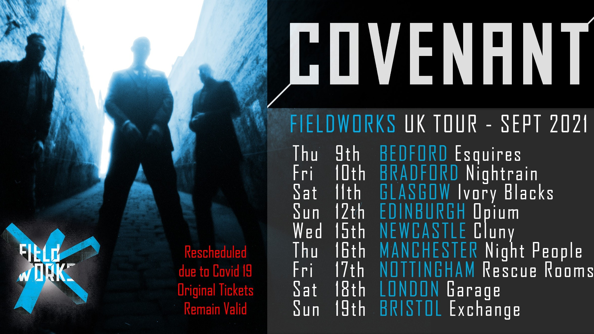 Covenant Fieldworks 2020 UK Tour – BEDFORD – NEW DATE