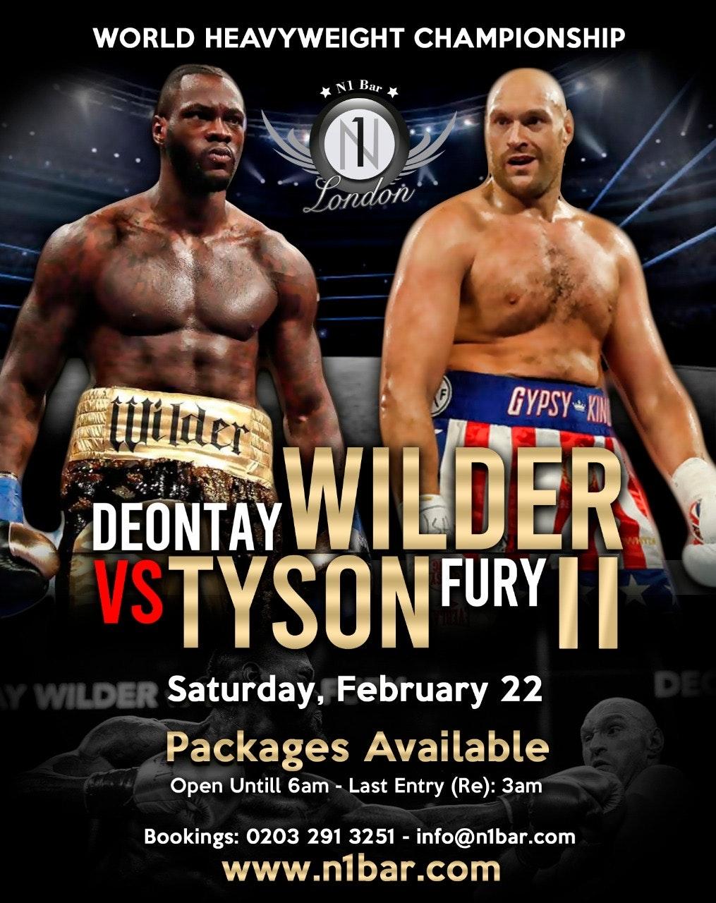 Wilder Vs Fury 2 (Fight Screening & Party)