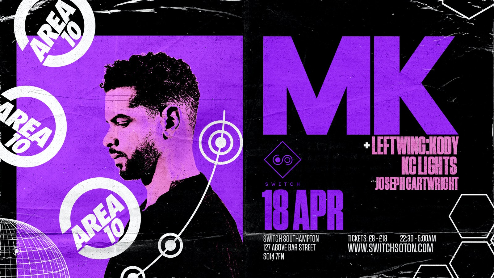 Warehouse & Area 10 Present: MK