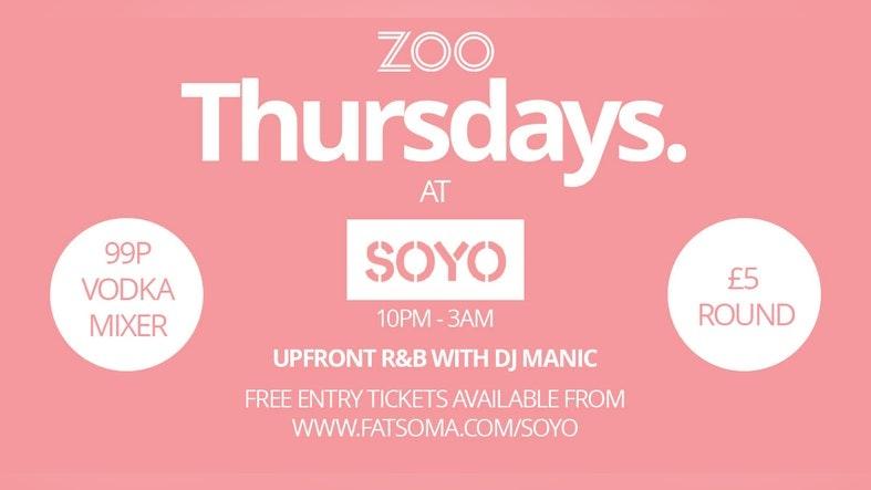 Thursdays at SOYO
