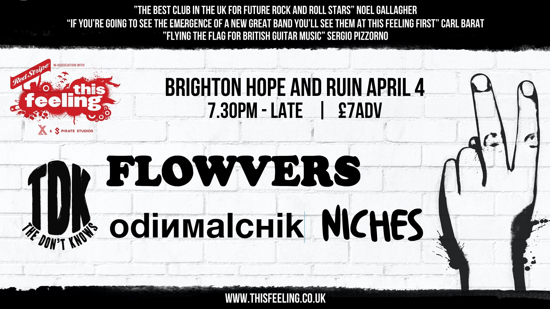 *POSTPONED* This Feeling: Flowvers + The Don't Knows + Odin Malchik + Niches