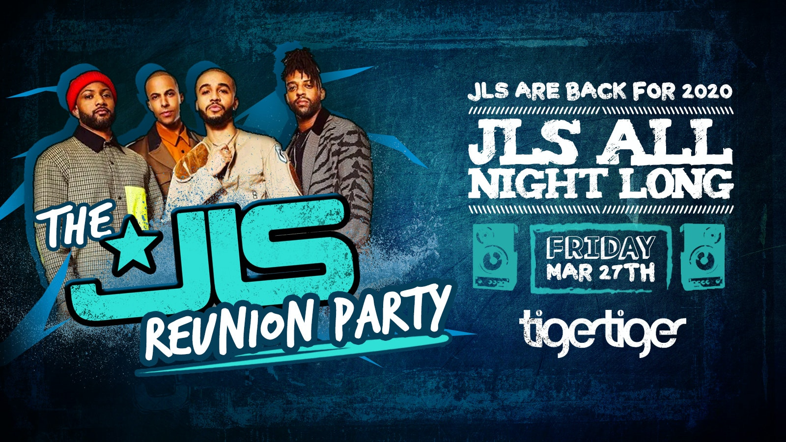 [Postponed Until After Coronavirus] – JLS Reunion Party – London