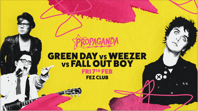 Propaganda Cambridge – Green Day Vs Weezer Vs Fall Out Boy