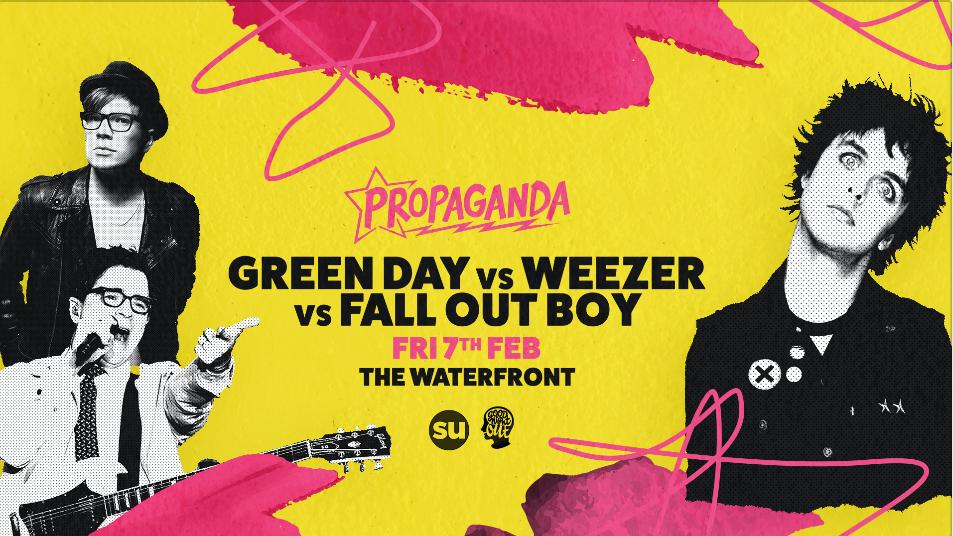 Propaganda Norwich – Green Day Vs Weezer Vs Fall Out Boy