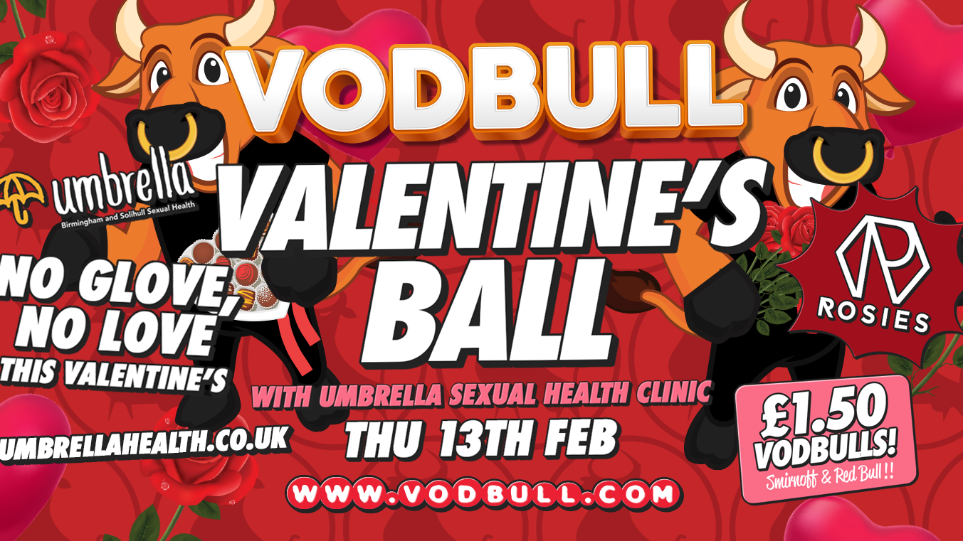 Vodbull ***FINAL TICS*** 🧡 Valentines Ball with Umbrella Sexual Health!!🧡