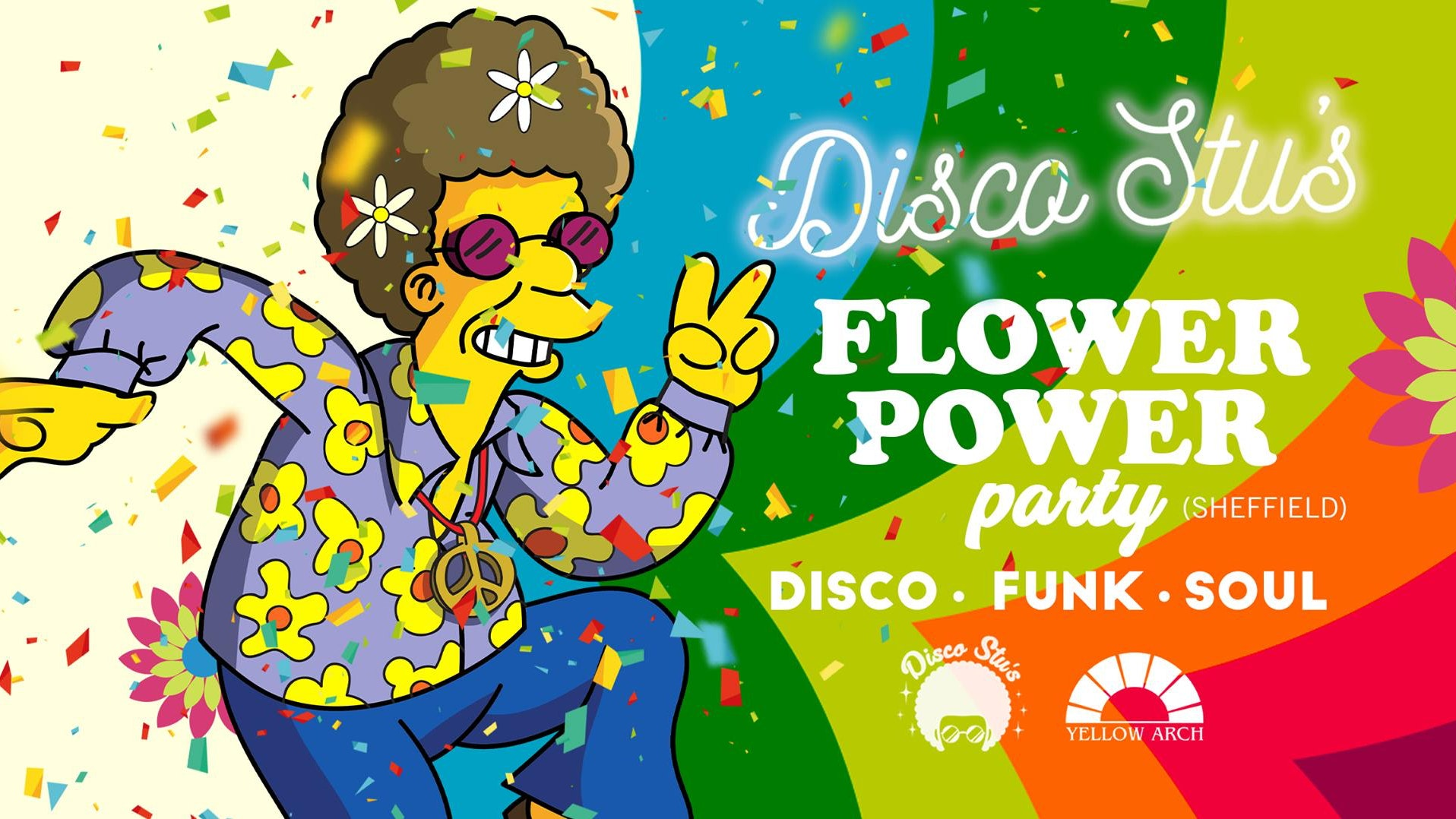Disco Stu's – Flower Power Party