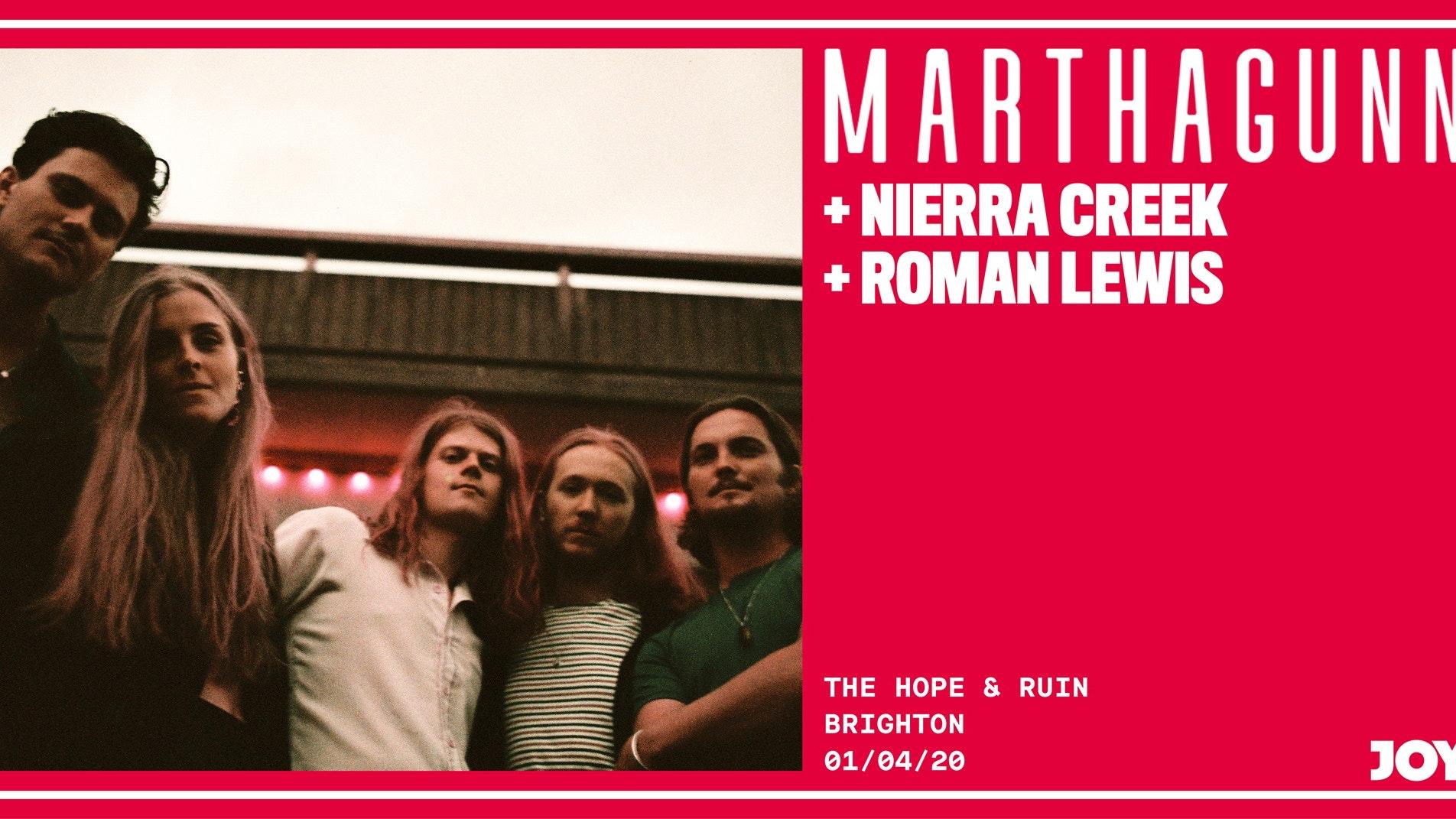 *POSTPONED* MarthaGunn + Nierra Creek + Roman Lewis