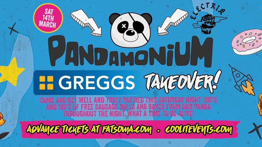 Pandamonium Saturdays – The Greggs Takeover!