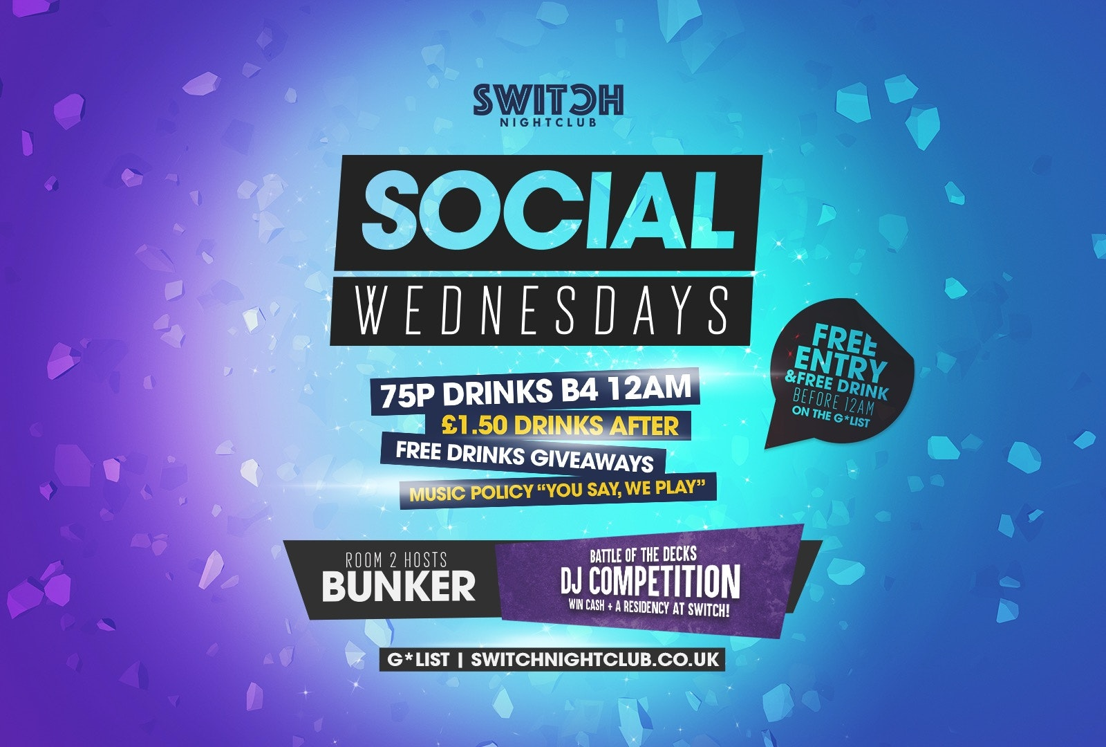 Social Wednesday's 75p Drinks